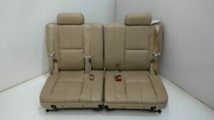 2007 2014 Tahoe Yukon Oem 3rd Third Row Split Seats Tan Leather