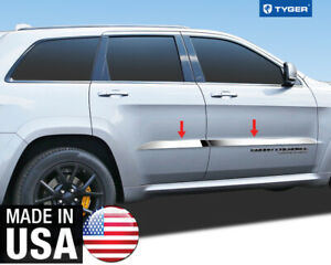 Chrome Accent Trim Above Body Line 1 25 Wide For 11 20 Jeep Grand Cherokee 4p
