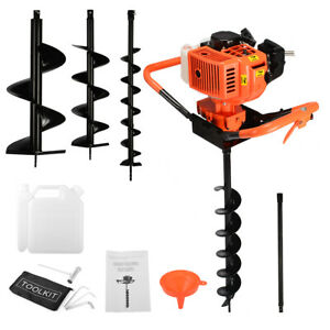 3hp 63cc Gas Earth 2 Man Post Hole Digger 2 Person Machine 3 4 5 8 Auger Bit