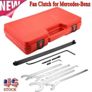 For Mercedes benz Car Fan Clutch Water Pump Wrench Holder Tool Set With Red Case