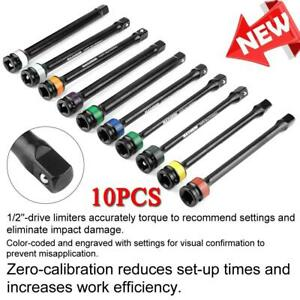 10 Pcs 1 2 Drive Torque Bar Extension Set Air Impact Limiting Stick Auto Tools