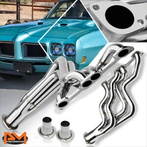 For 64 79 Pontiac Gto le Mans 326 455 Stainless Steel Long Tube Exhaust Header