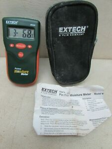 Vintage Extech Mo280 Pinless Moisture Meter With Pouch And Instructions