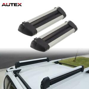 22 Adjustable Ski Snowboard Carrier Top Rack Mounted Carrier Cross Bars 2pcs