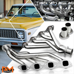 For 65 73 Chevy Gmc Bbc 366 454 V8 Square Port Stainless Shorty Exhaust Header