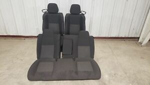 2018 Dodge Challenger Seats Front Rear Left Right Black Cloth Power Driver Oem