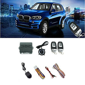 Car Suv Engine Start Push Button Car Alarm System Security W 2 Remotes Control