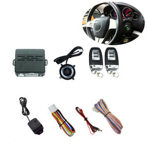 Anti theft Car Alarm Security System Universal Keyless Entry 2 Remote Controls