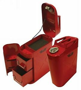 Rampage 86619 Jerry Gas Can Utility Storage Tool Box For Jeep Cj5 Cj7 Yj Tj Jk R