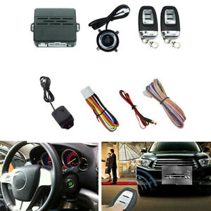 Car Suv Alarm System Keyless Entry Engine Start Push Button 2 Remote Control