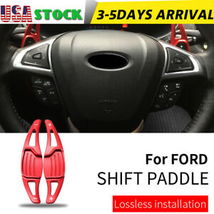 Red Steering Wheel Shift Paddle Shifter Extension For Ford Mondeo Taurus Edge