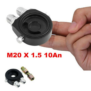Car Oil Filter Relocation Sandwich Plate Adapter Kit M20x1 5 An 10 Fitting Black