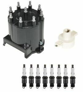 Distributor Rotor Cap Spark Plugs Kit Acdelco For Gmc Oldsmobile Chevy Buick