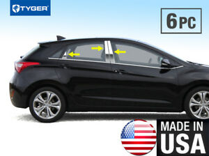 Tyger For 2010 2013 Kia Forte 5 Door 6pc Stainless Steel Chrome Pillar Post Trim