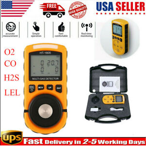 Us 4 In 1 Gas Detector O2 H2s Co Oxygen Lel Gas Monitor Tester Analyzer Meter