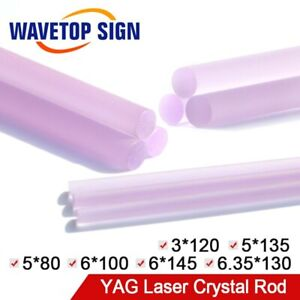 Yag Laser Crystal Rod Size Dia 3 6 35mm Length 80 145mm For Laser Cutter Machine