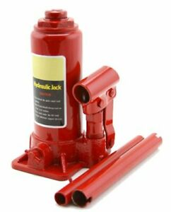 Hydraulic 4 Ton Portable Bottle Car Jacks Lift Height Auto Tool With Handle Red