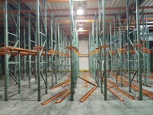 Interlake Drive In Pallet Rack 5 Rows Wide 5 Deep 90 Pallet Positions