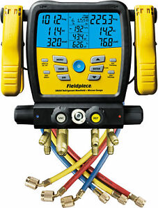 Fieldpiece Sm480v Four Port Wireless Sman Manifold With Micron Gauge And Yell