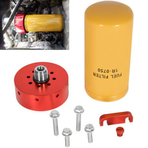 6 6l Duramax Cat Fuel Filter Adapter W 1r 0750 2 Micron For 2001 2016 Chevy Gmc