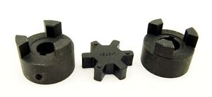 1 2 To 7 8 Lo75 3 piece L jaw Coupling Set Rubber Spider 0 50 To 0 875 L075