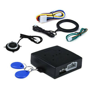 12v Car Anti Theft Alarm Keyless Entry System Push Button Starter 2 Rfid Key