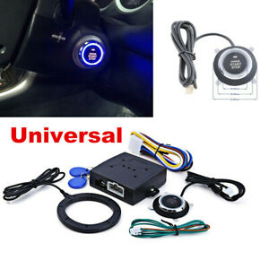 Smart Rfid Key Car Alarm System Kit Start Push Button Starter Keyless Entry 12v