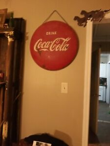 Repost was not a flang button sign1953 Vintage Coca Cola. 24
