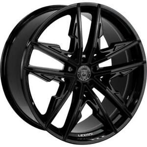 4ea 24 Lexani Wheels Venom Full Gloss Black Rims s1