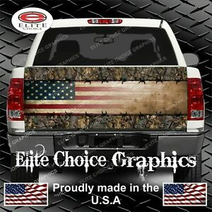 Wicked Wire Camo Flag Truck Tailgate Wrap Vinyl Graphic Decal Wrap