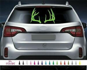 Deer Antlers Vinyl Decal Whitetail Buck Rack Horns Truck Window Hunting Sticker