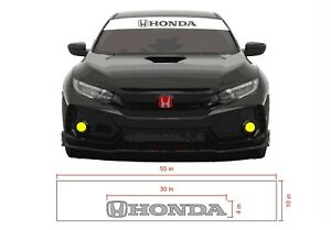 Honda Civic Windshield Banner Decal Visor Reverse Cut For Type R Civic