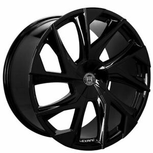 4ea 24 Lexani Wheels Ghost Gloss Black Rims s2