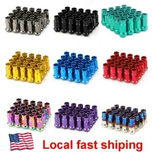 20pcs Extended Forged Steel Wheel Tuner Lug Nuts Open End Light M12x1 5 M12x1 25