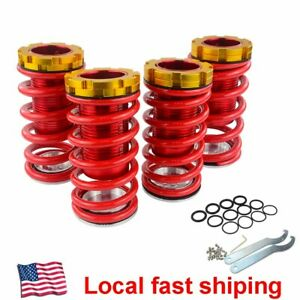 For 88 00 Honda Civic Eg Ej Ek Integra Adjustable Suspension Coilover Kit Spring