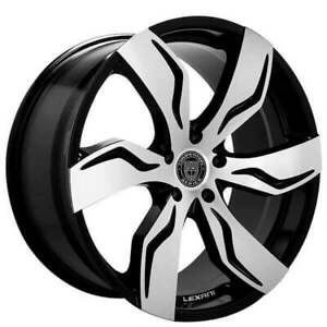 4ea 24 Lexani Wheels Zagato Gloss Black Machined Rims s2