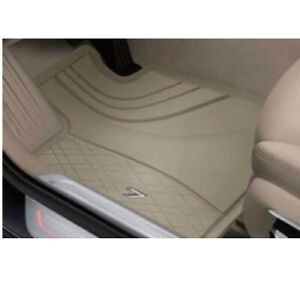 Genuine Front All Weather Rubber Beige Floor Mats Set For Bmw G12 7 Series