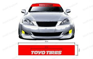 Toyo Tires Windshield Visor And Banner Reverse Cut Decal 55 X 10 Inches