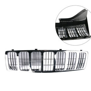 Chrome Front Bumper Upper Grille Grill Fits Jeep Grand Cherokee 2005 2006 2007