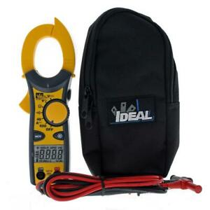 Ideal Clamp Meter 600 Amp Ac W Ncv Amperage Cat Iii Electrical Tapered Jaws