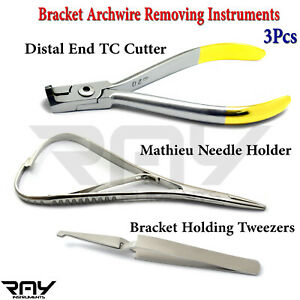 Orthodontic Bracket Removing Archwire Cutter Mathieu Forceps Dental Tweezers