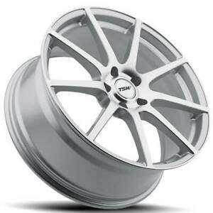 4ea 20 Staggered Tsw Wheels Interlagos Silver Forged Rims S1