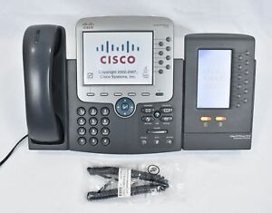 Cisco Ip Phone 7975 Voip Business Office Telephone And 7916 Expansion Module