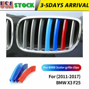 Front Grille Grill Cover Strips Clip Trim For Bmw X3 F25 Accessories 2011 2017
