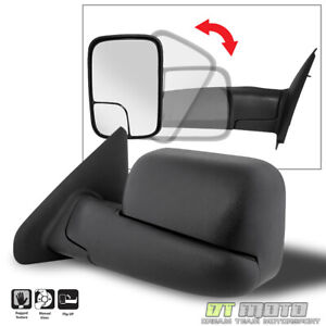 Left Driver Side 2002 2008 Dodge Ram 1500 03 09 2500 3500 Towing Manual Mirror