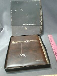 Executive Planner 1970 Leather like Vinyl Cover Vintage