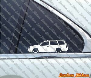 2x Lowered Car Outline Stickers For Volkswagen Vw Golf Mk3 Variant Wagon Lc059