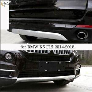 Fit For Bmw X5 F15 2014 2018 Front Rear Skid Plate Painted Bumper Boards Guard