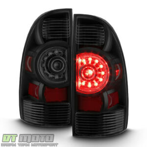 Black Smoked For 2005 2015 Toyota Tacoma Led Tail Lights Lamps 05 15 Left Right