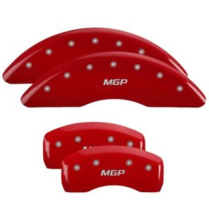 2011 Chevrolet Traverse Red Mgp Disc Brake Caliper Covers Front Rear 14214smgprd